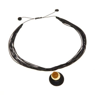 Nandi Layered Disc Necklace