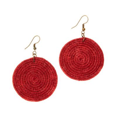 Nandi Cayenne Disc Earrings
