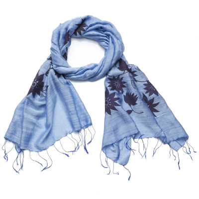 Blue Lotus Scarf
