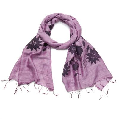 Lavender Lotus Scarf