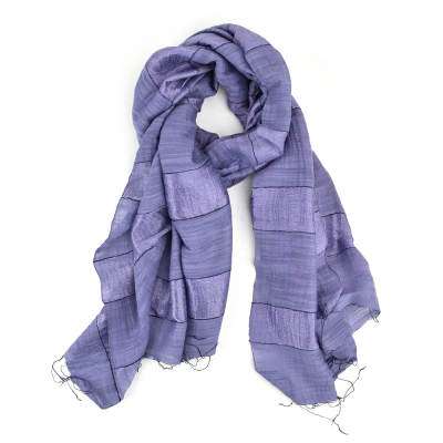 Purple Stripe Scarf