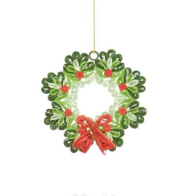 Hand-Quilled Paper Wreath Ornament