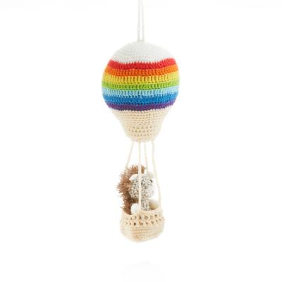 Aeronaut Hedgehog Crocheted Ornament