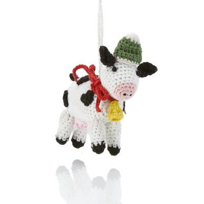 Barnyard Christmas Cow Ornament