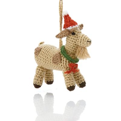 Barnyard Christmas Goat Ornament