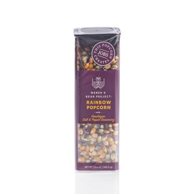 Rainbow Popcorn with Salt & Pepper Seasoning
