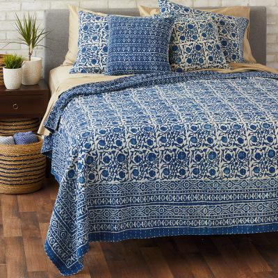 Floral Dabu Cotton Bedding