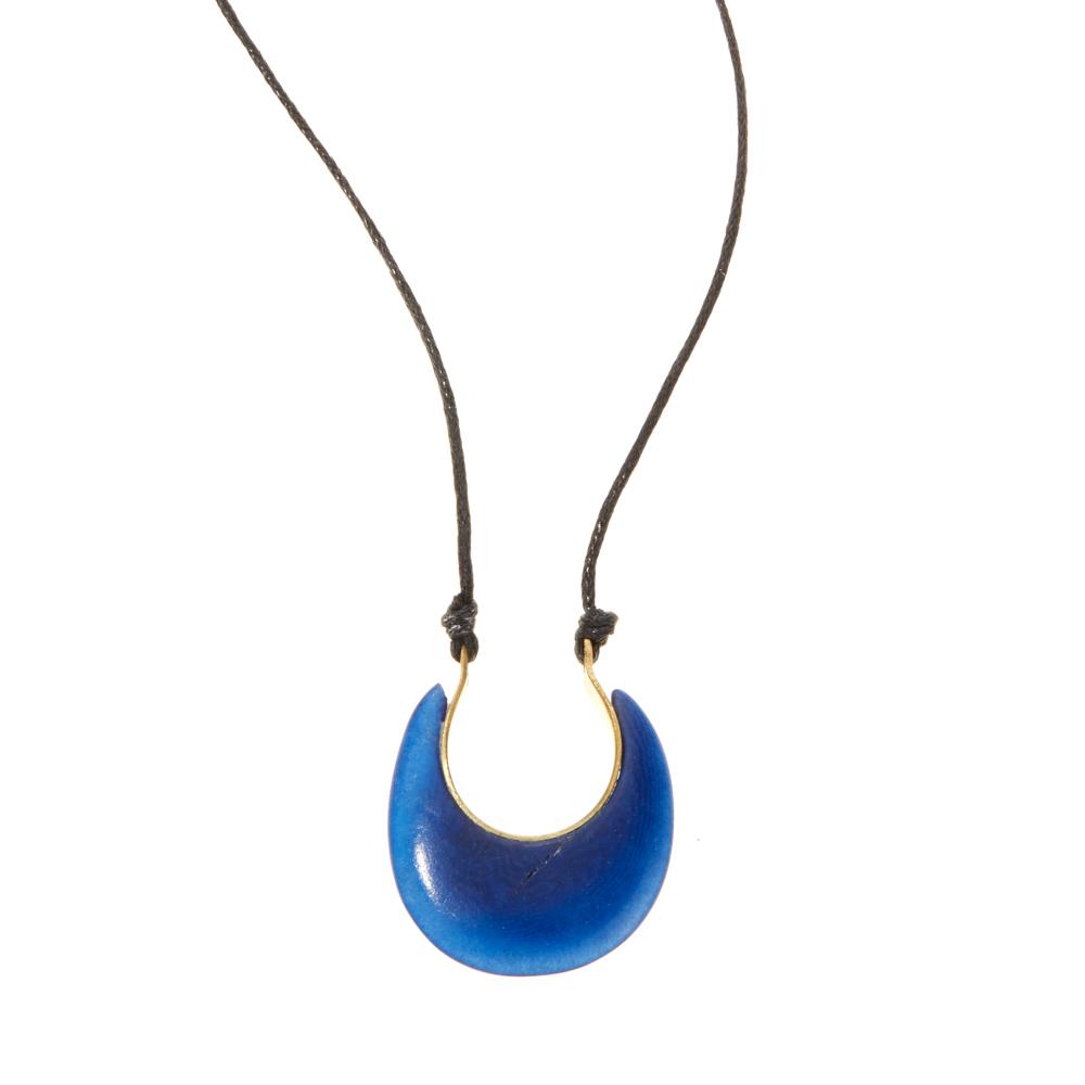 Tagua Crescent Necklace