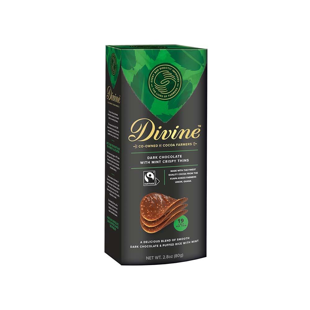 SALE Dark Chocolate Mint Thin Crisps