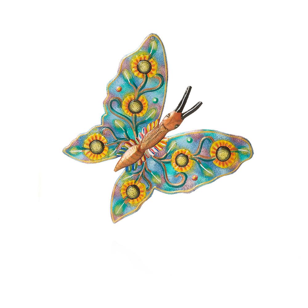 Sunflower Butterfly Wall Art