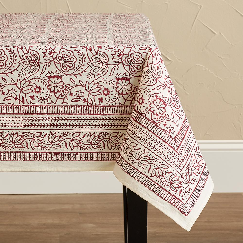 Cranberry Vine Tablecloths