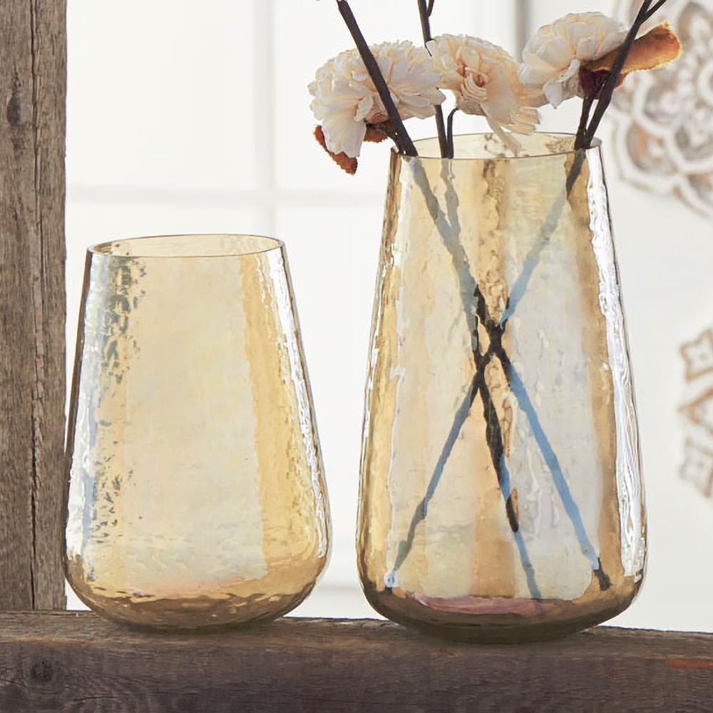 Indian Rippled Glass Vases