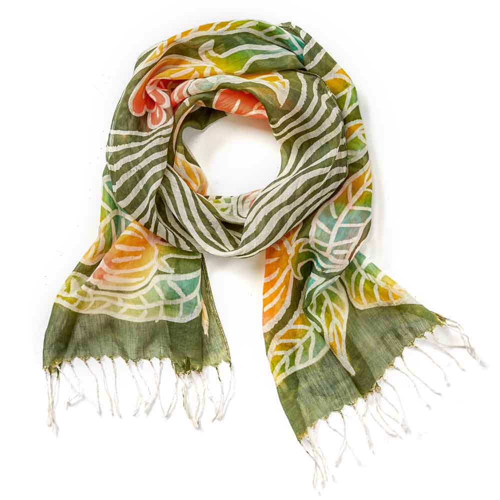 Woodland Painted Floral Scarf
