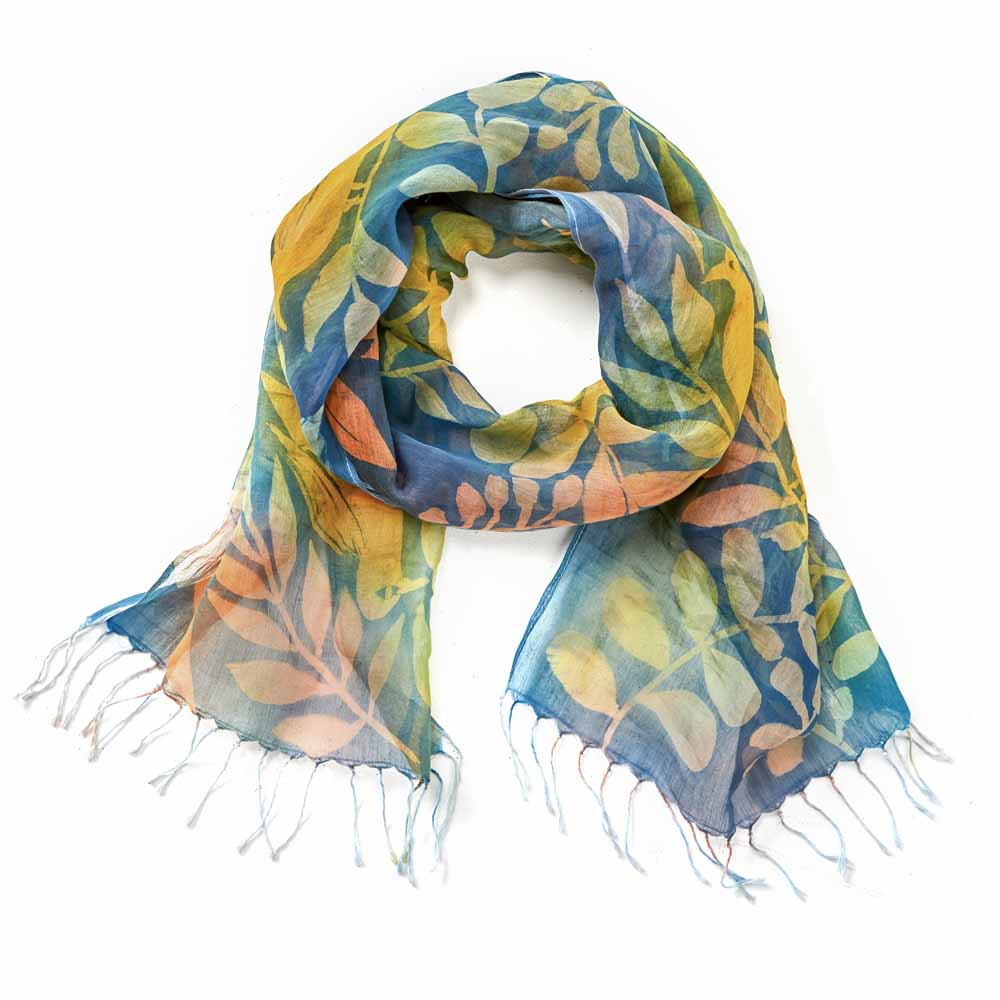 Songbird Painted Floral Scarf