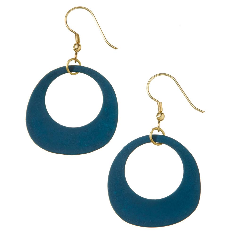Peacock Hoop Earrings