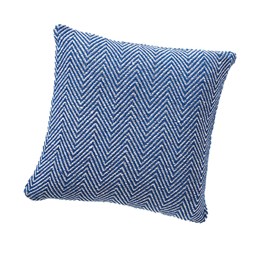 Rethread Pillow - Blue Chevron