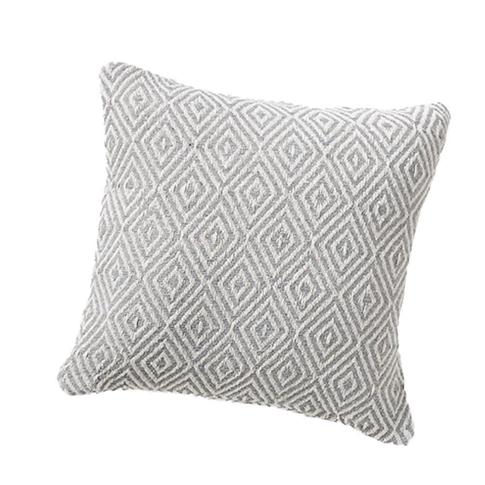Rethread Pillow - Gray Diamond