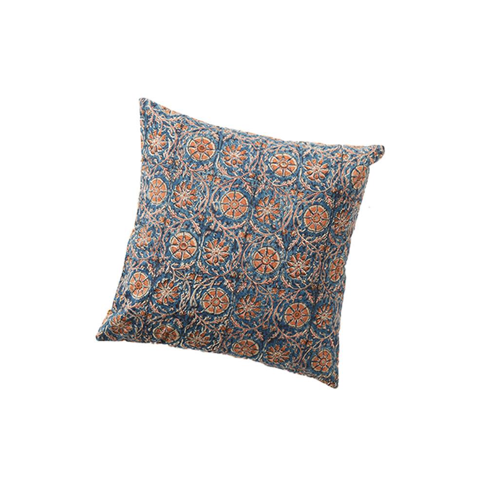 Compass & Meadow Kalamkari Reversible Pillow