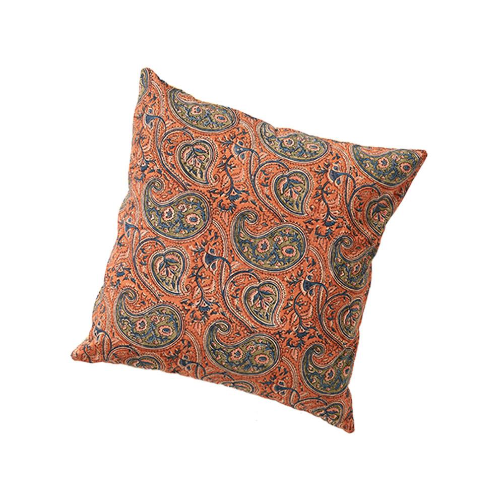 Paisley & Lotus Kalamkari Reversible Pillow