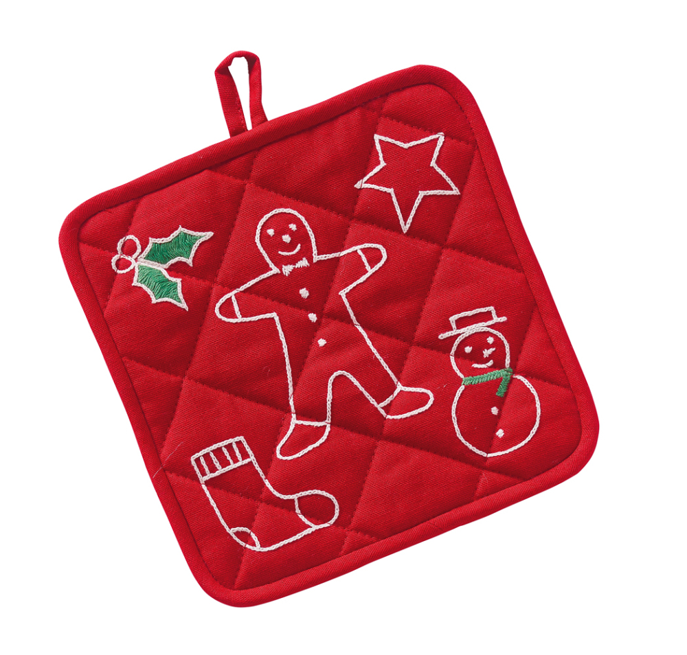 Cookie Cutter Embroidered Pot Holder