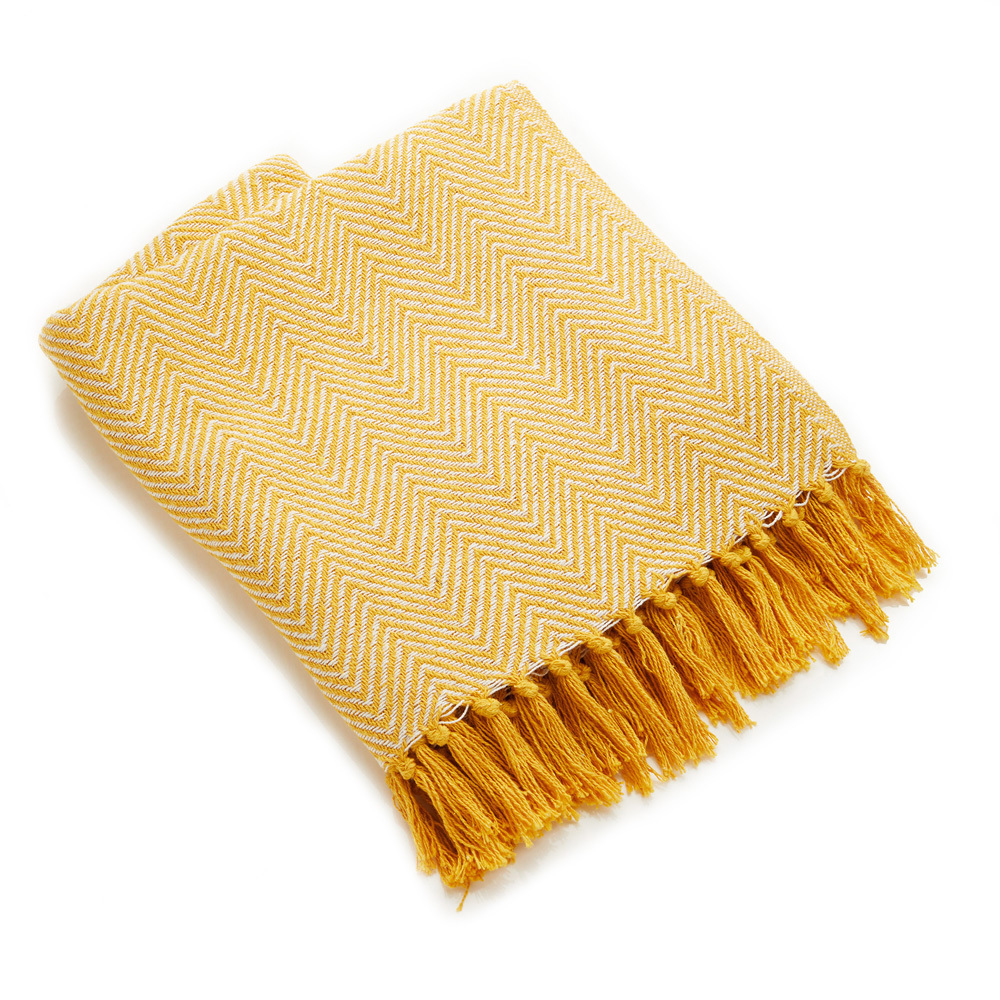 Rethread Throw - Gold Chevron