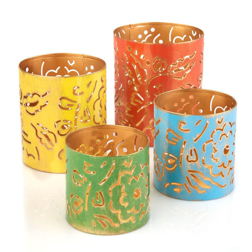 Dahlia Patio Lanterns - Set of 4