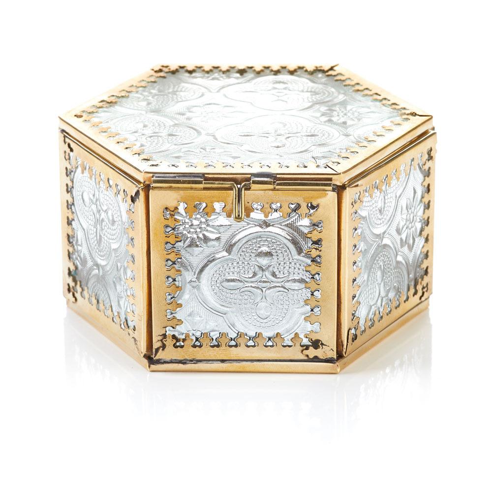 Jadani Glass Keepsake Box