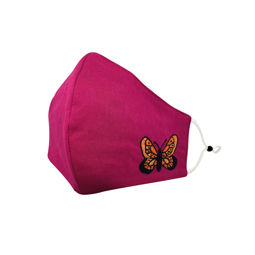 Fuchsia Flutter Butterfly Mask