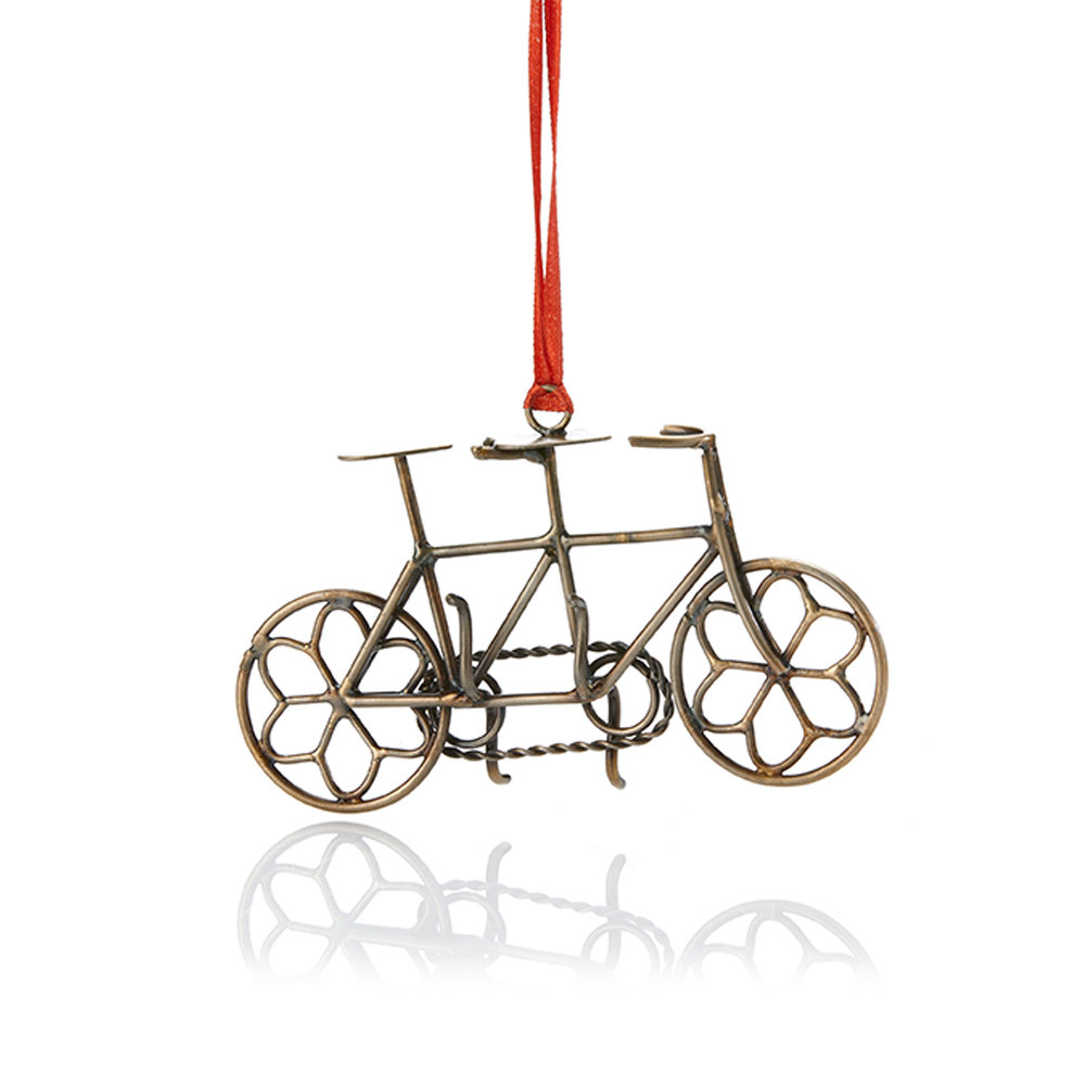 Built for Two Bike Ornament