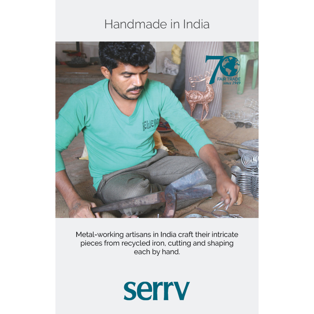 Handmade in India Table Sign