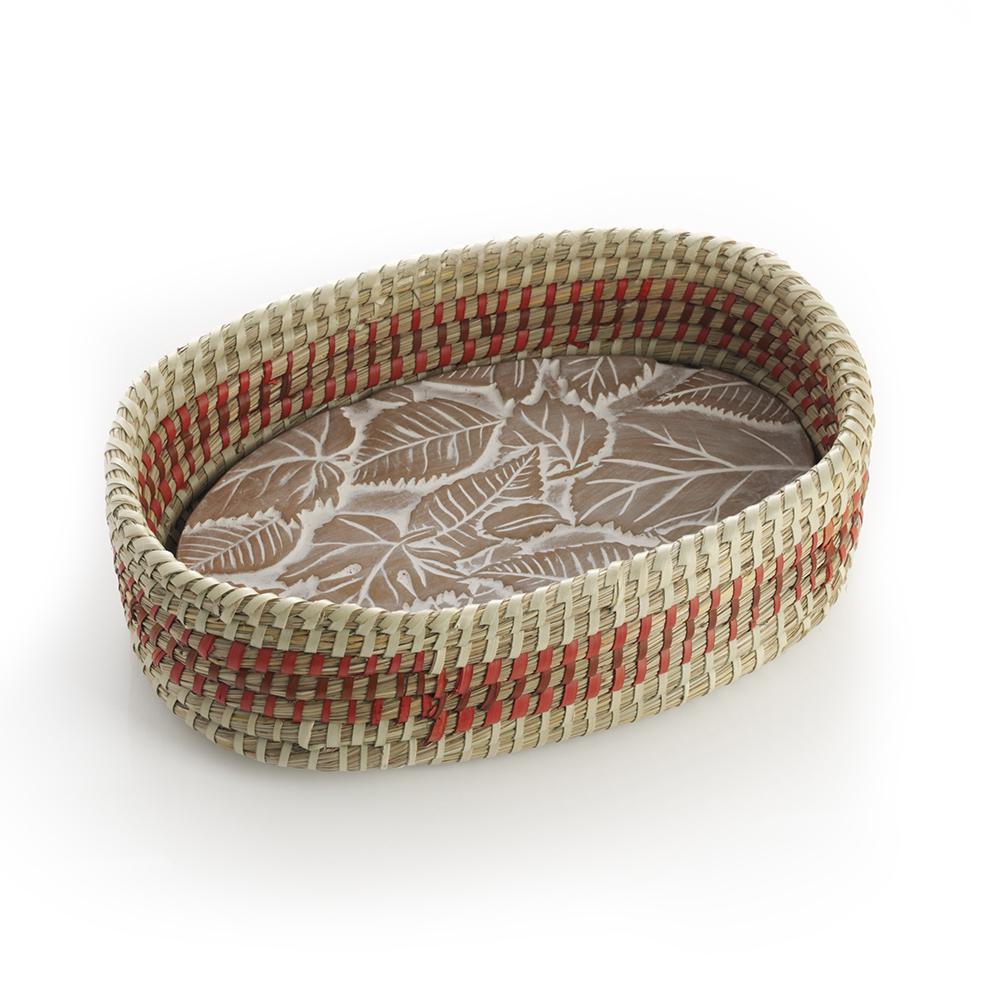 Falling Leaves Breadwarmer in Orange Detail Basket