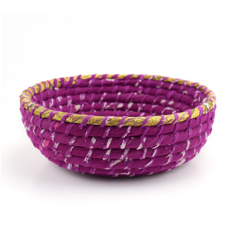 Round Fuchsia Chindi Basket