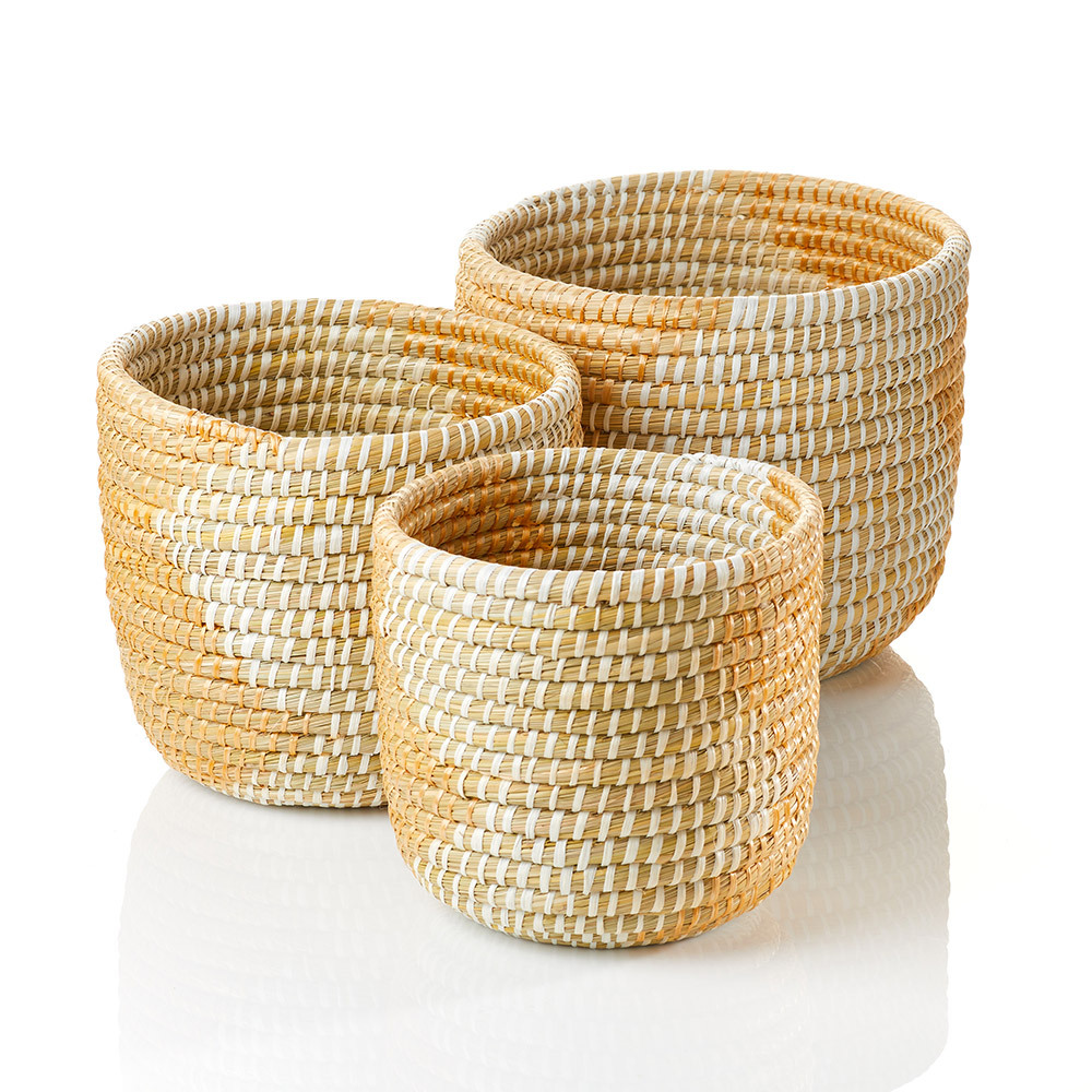 Seashore Nesting Baskets (XL) - Set of 3