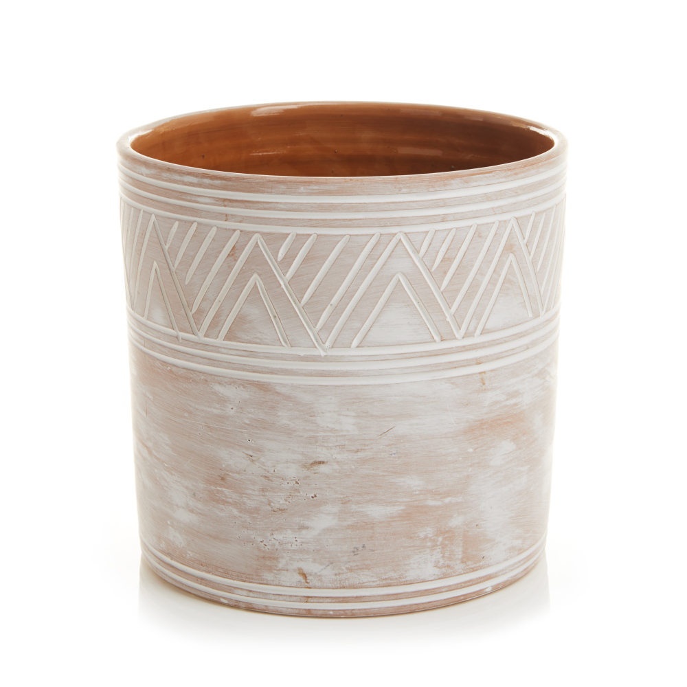 Small Etched Cylinder Planter