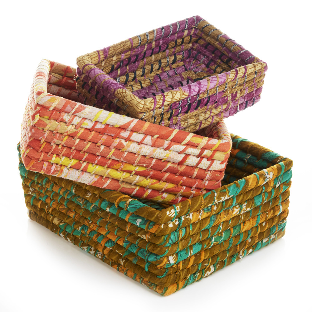 Nesting Sari Baskets - Set of 3