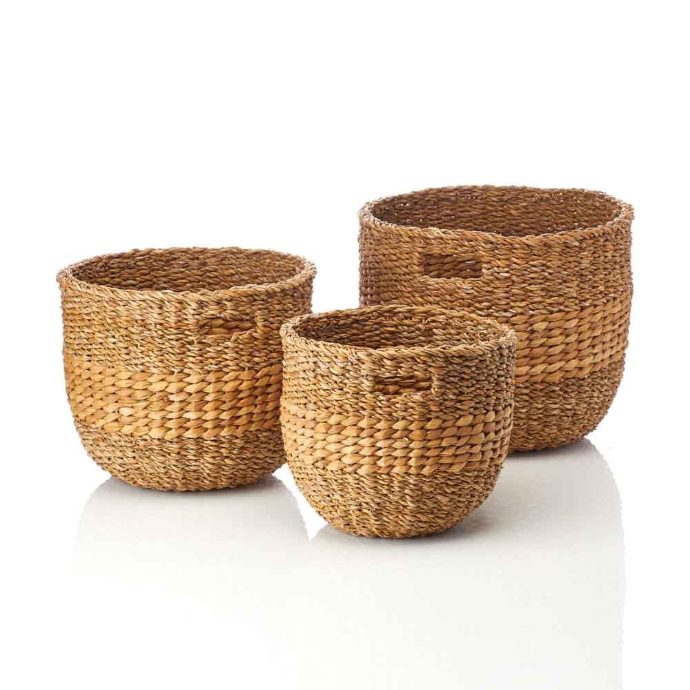 Natural Nesting Baskets (XL) - Set of 3