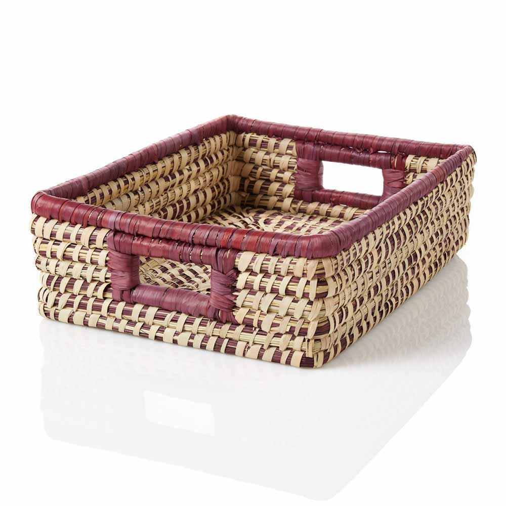 Amethyst Stripe Tray Basket