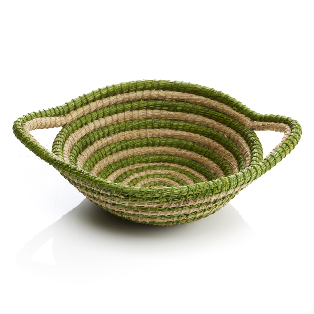 Green Swirl Basket