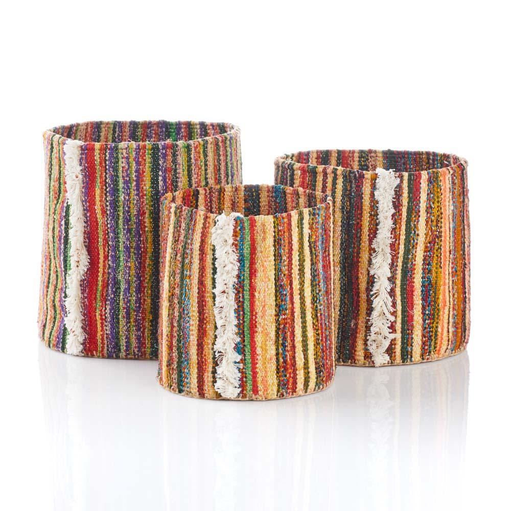 Remnant Soft-Sided Baskets - Set of 3