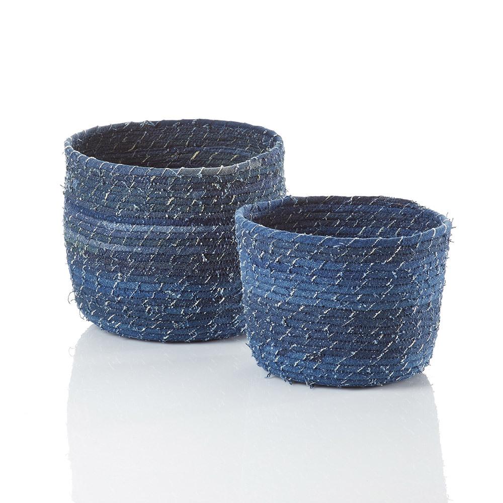 Dhaka Denim Baskets - Set of 2