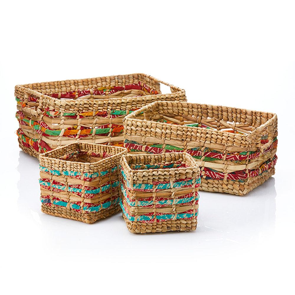 Katra Sari Nesting Storage Baskets - Set of 4