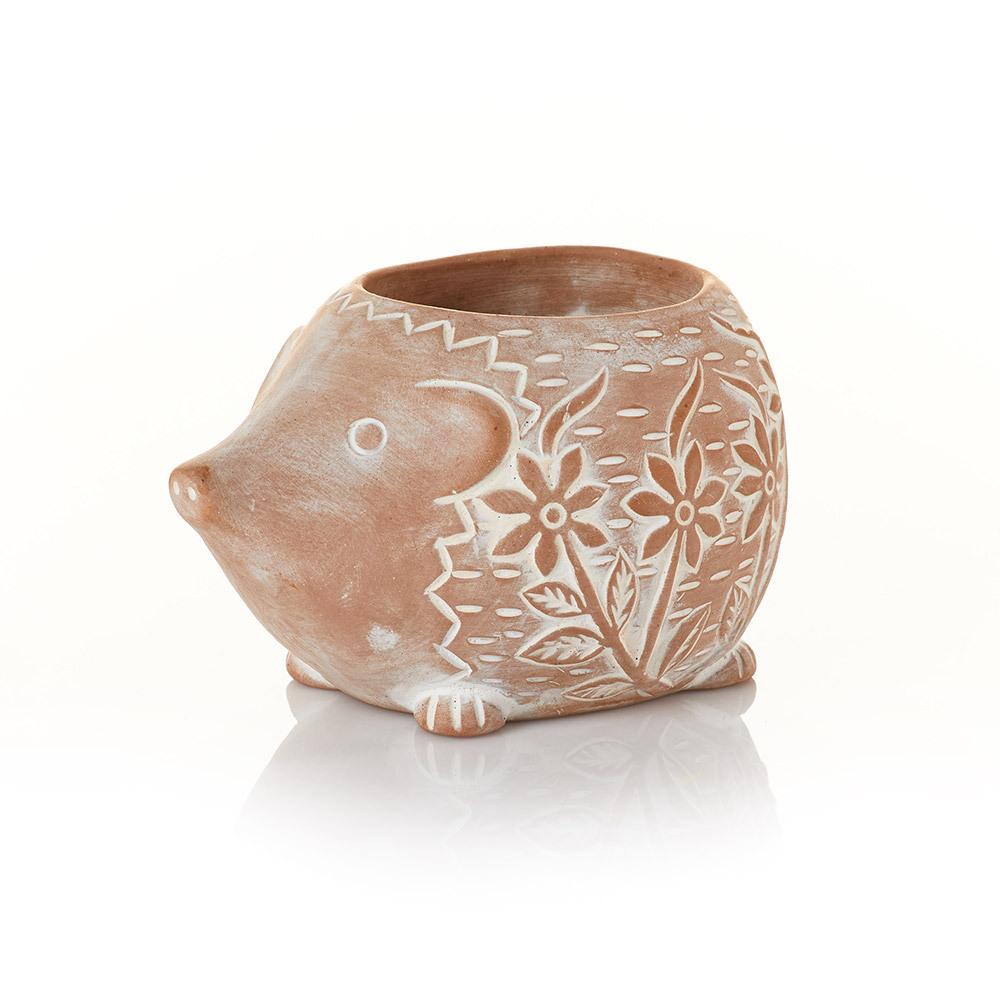 Happy Hedgehog Terracotta Planter