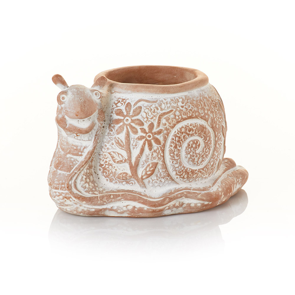 What's the Hurry Snail Terracotta Planter