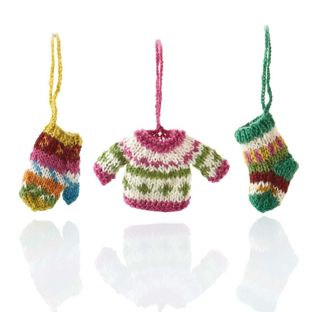All Bundled Up Ornaments - Set of 3