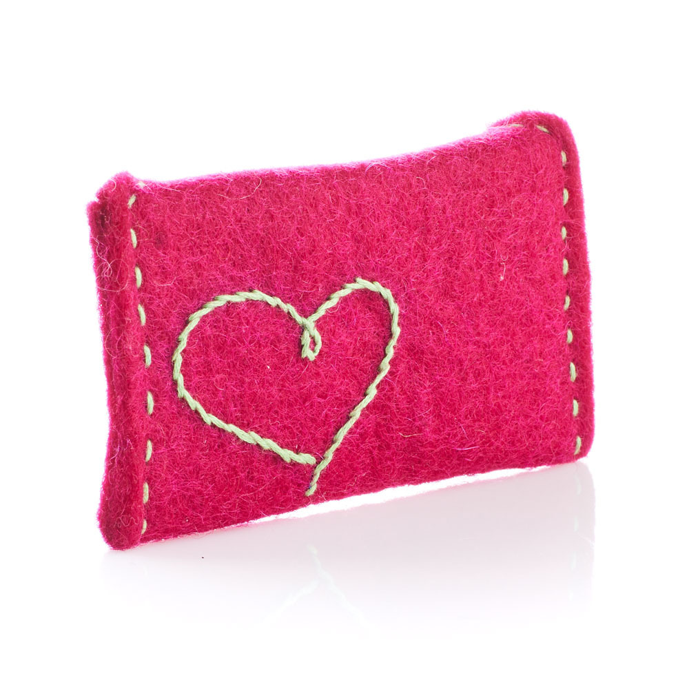 Fuchsia Heart Gift Card Holder