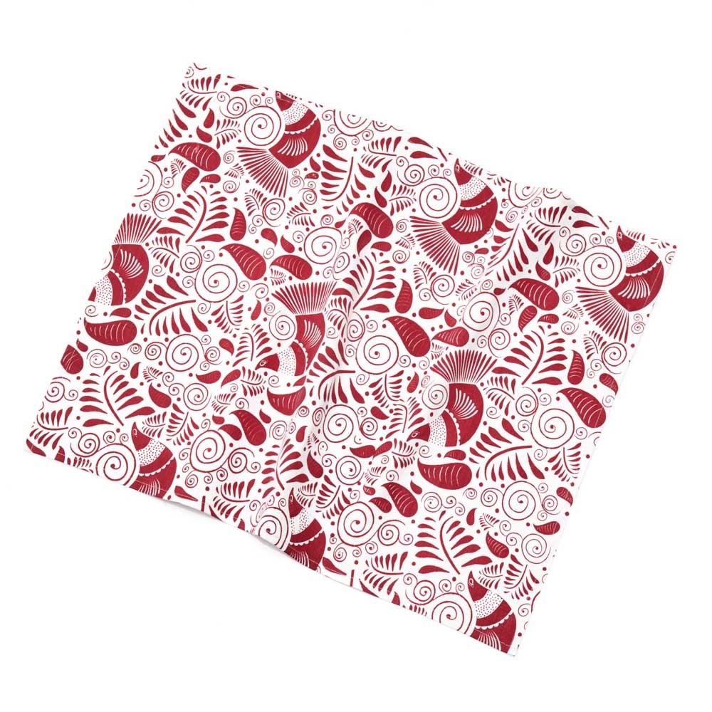 Red Quail Dish Towel