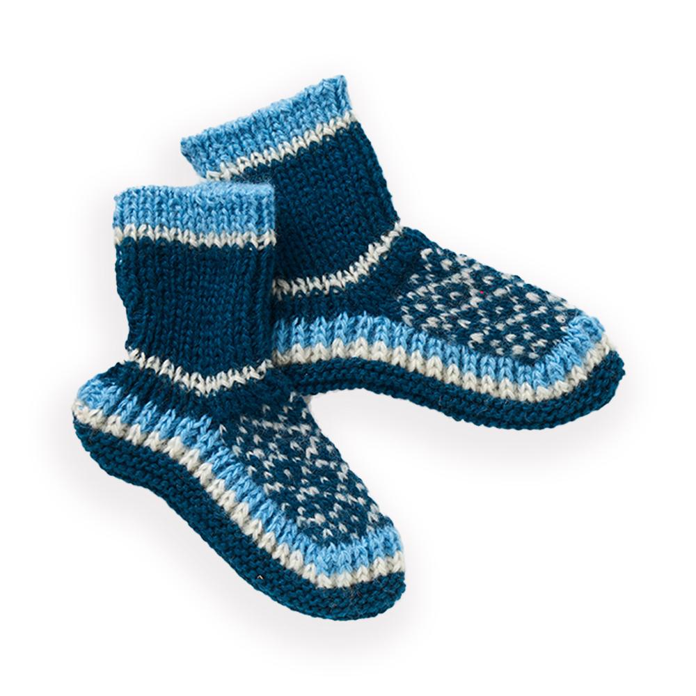 Arctic Blue Slipper Socks