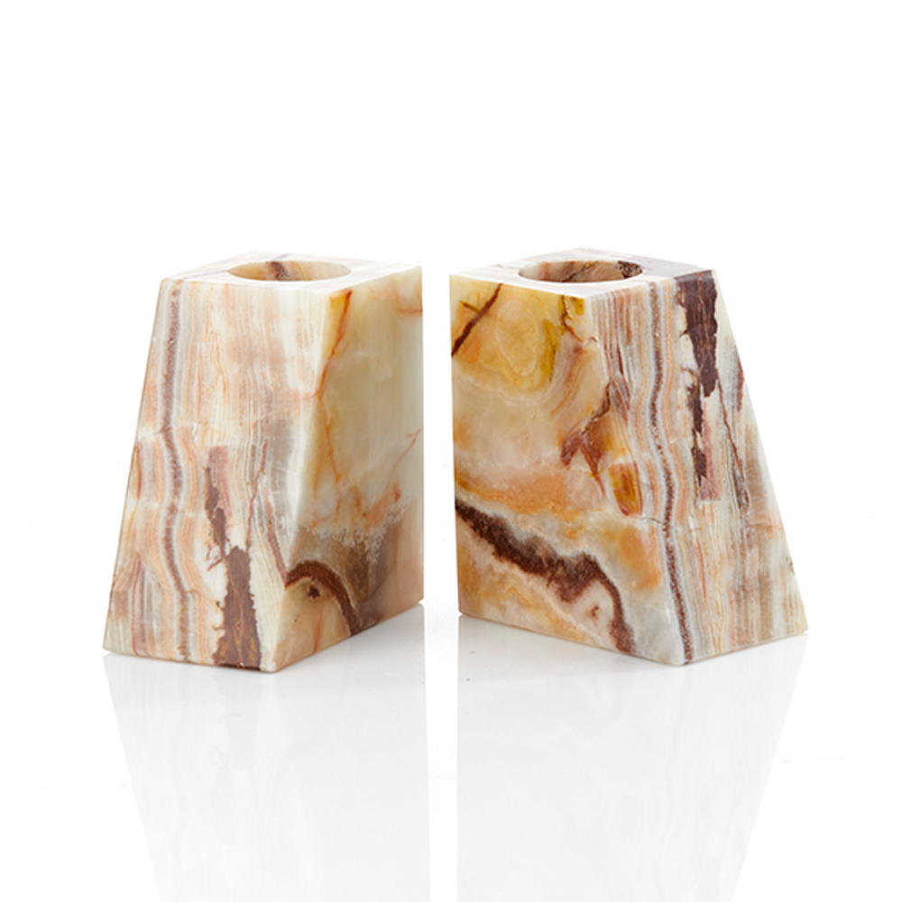Onyx Vase Bookends