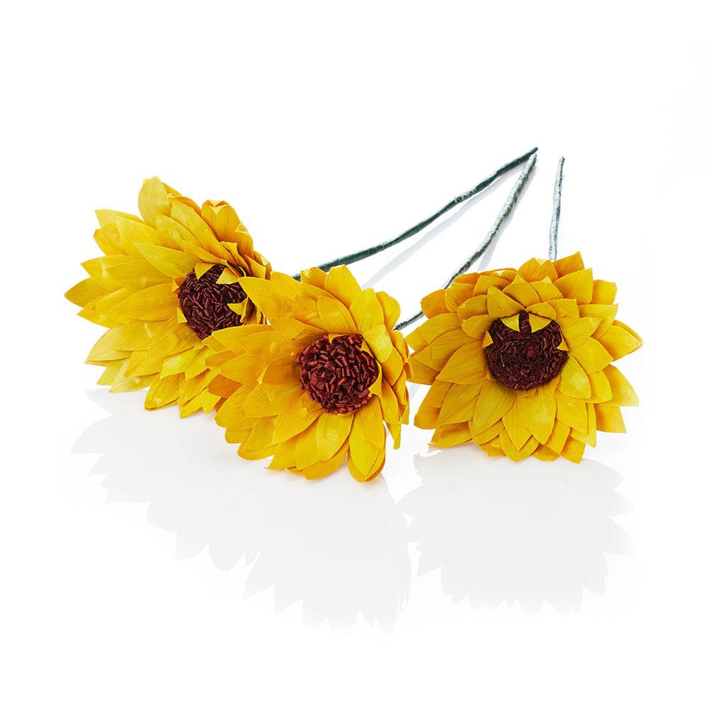 Corn Husk Sunflowers