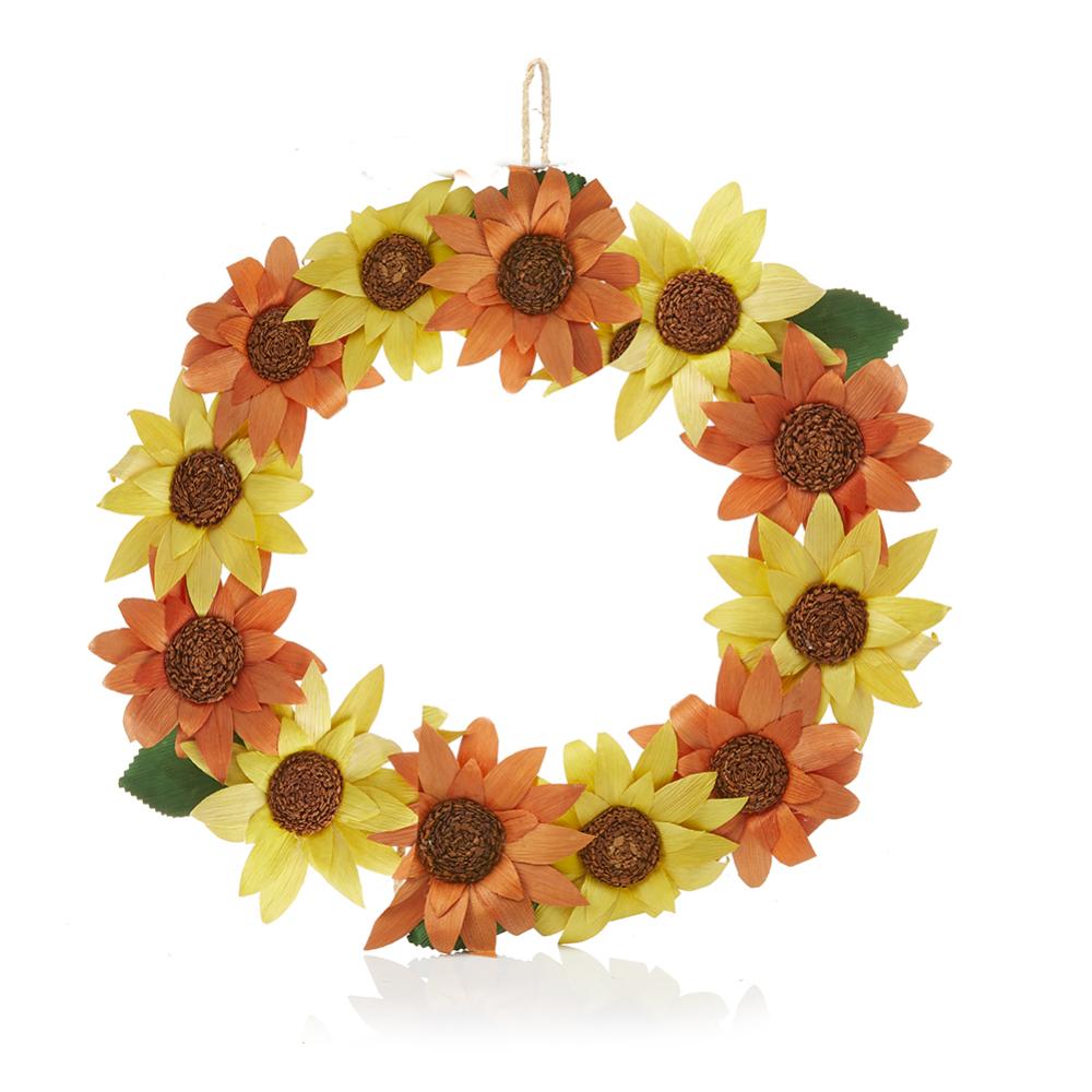 Fall Harvest Corn Husk Wreath